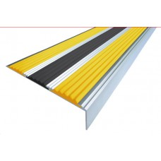 Алюминиевый антискользящий угол с тремя резиновыми вставками 102 мм/5,5 мм/22,5 мм