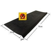 Проступь накладка на ступень 250х750 мм черная Елочка