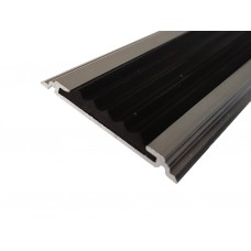 Алюминиевая полоса ЕвроСтандарт 40мм с одной резиновой вставкой
