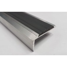 Алюминиевый порог ПРЕМИУМ с резиновой вставкой  42 мм/19 мм