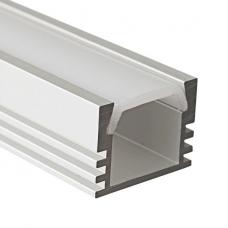 Накладной алюминиевый профиль для светодиодной ленты SS-442 с экраном