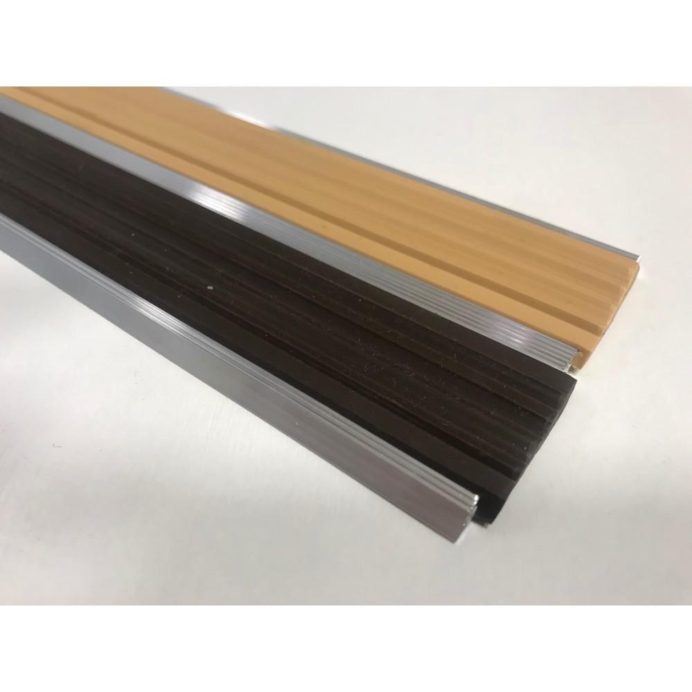 Алюминиевая антискользящая полоса для ступеней с двумя вставками 70 мм/5,5 мм