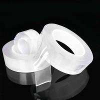 Двухсторонняя клейкая лента, многоразовая, водостойкая, акриловая Nano tape 2mm x 30mm x 3m Цвет: прозрачный