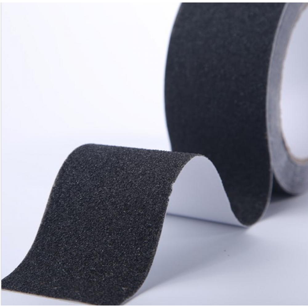 Самоклеящаяся противоскользящая лента Anti Slip Tape крупной зернистости (60 grit). Цвет: черная