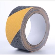 Самоклеящаяся противоскользящая предупреждающая сигнальная лента Anti Slip Tape крупной зернистости (60 grit). Цвет: черно-желтый, красно-белый, красно-желтый