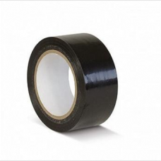 ПВХ лента для разметки и маркировки, черный цвет, 50мм х 22м, 150 мкр