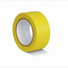 ПВХ лента для разметки и маркировки, желтый цвет, 50мм х 22м, 150 мкр