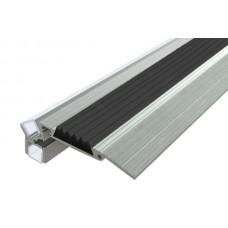 Алюминиевый профиль для ступеней с резиновой вставкой и подстветкой SS-3 LED (Аналог LC-PDS-2879-2 Anod)