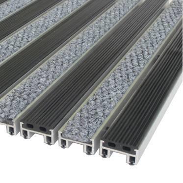 алюминиевые решетки с грязезащитными вставками